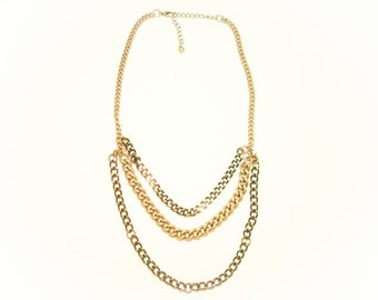 Cascade Silver Layered Chain Necklace