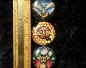 Bird, Buck, and Bee Art Magnet set of 3