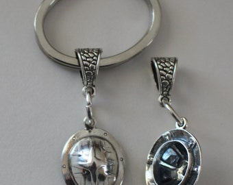 Sterling Silver 3D HARD HAT Key Ring - Key Chain - Key Holder - Construction