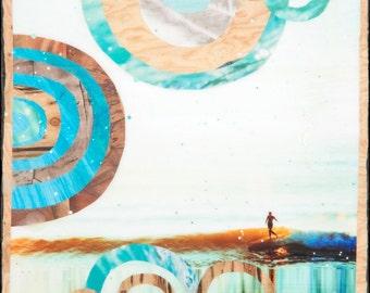 CURVE BB, Giclee, 8x8 and Up, Belinda Baggs, Surfing, Ocean, Ocean Art, Hanging Art, Wall Art, Surf Art, Belinda Baggs, Patagonia