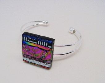 Dichroic  cuff bracelet.
