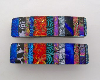 Very Small Pair of dichroic barrette.