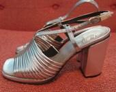 1960s Silver Lame Heels