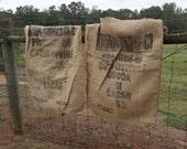 Vintage Cocoa Sack Burlap Bag Cacao Bean Bag Coffee Shop Decor Rustic Fall Decor Primitives Sewing Supplies Fall Wedding Decor Coffee Bag
