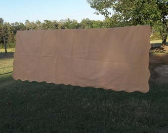 Harvest Gold Tablecloth Vintage Tablecloth FALL Table Cloth Rustic Farmhouse Table Decor Thanksgiving Tablecloth 50x68