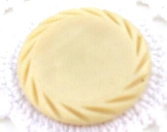 Vintage BIG Cream Colored Button