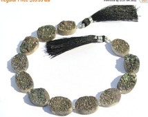 55% OFF SALE 8 Inches Sparkling Titanium Coated Gray Druzy Oval Briolette Size 16x12 - 17x13mm approx Druzy Oval Beads, Druzy Briolette