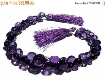 55% OFF SALE 1/2 Strand Natural Purple Amethyst Faceted Onion Briolettes Size 7 - 10mm Approx  Finest Quality Wholesale Price