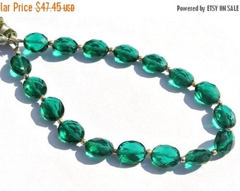 55% OFF SALE 8 Inches AAA Teal Green Quartz Faceted Oval Briolettes Size 10x8mm Approx Oval Beads High Quality Great Price