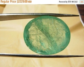 55% OFF SALE 22x18mm 26.75 Ctw Natural Colombian Emerald Oval Gemstone. Emerald Cut Loose Gemstone Faceted Gemstone Unset Gem Precious Gemst