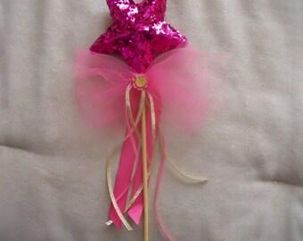 Pink Glitter Wand