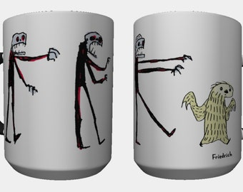 Sloth and Zombies Race on a Coffee Mug 11oz to start your day right
