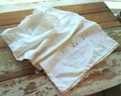 Large Vintage Adair & McCarty White Cotton Feed Sack Bag - Chattanooga, Tennessee