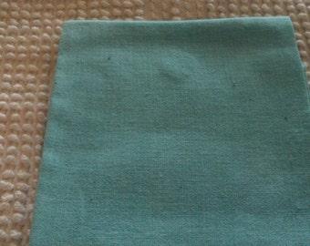 Vintage Solid Color Floursack  Quilting/Vintage Quilt Repair  Medium Green