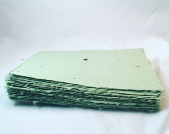 5x7 inch sheets of handmade paper with flower petal inclusions (10 sheets)