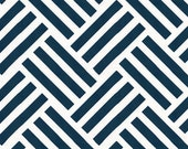 Navy and White Valance - Navy Basketweave Fabric - nursery valance, home decor, kids room, playroom, bathroom