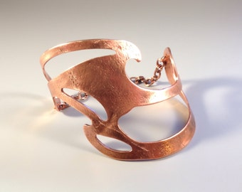 Abstract Copper Cuff