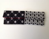Skulls Card Case Knit Pirate or Skull and Crossbones Flannel Your Choice of One