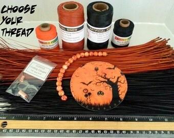 "Pine Needle Basket Kit, Halloween Theme ""Spooky Tree"""
