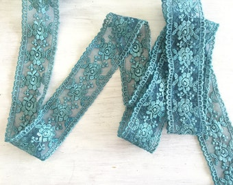 2M Vintage Teal Double Edge Trim