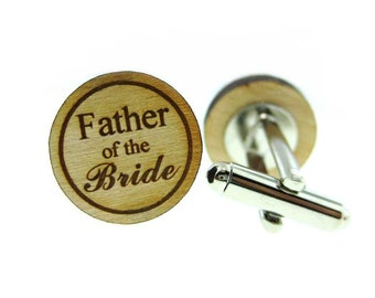 Father of the Bride Wood Cufflinks  (MCW003)