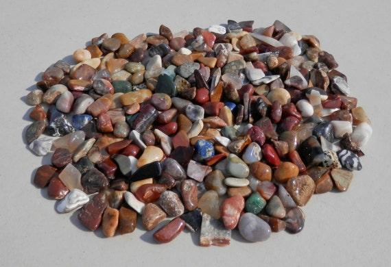 Small tumble polished rocks craft mosaic natural decorative for Small decorative rocks