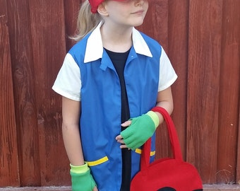 Ash Ketchum Original Pokemon Trainer Costume with SHIRT ONLY
