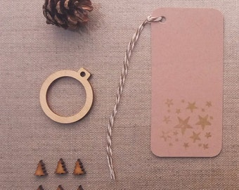 large size gold star hand printed festive gift tags buff beige colour plain card price hang tags