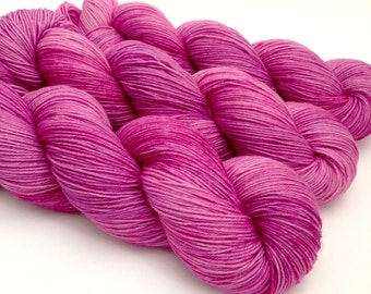 ORCHID - Hand Dyed Yarn - Signature Merino Nylon Sock Yarn Fingering - Ready to Ship - Vivid Yarn Studio