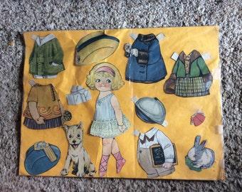 VINTAGE PAPER DOLLS, Dolly Dimple, clothes, hats, pets, 1930' s era, collectible,