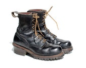 Size 9.5 Men's RED WING Black Leather Ankle Boots