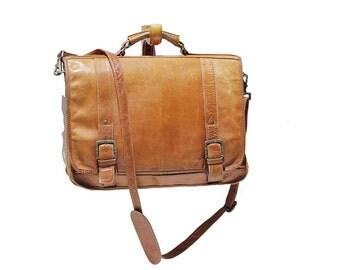 Men's Mocha Brown Leather Bag
