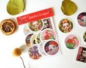 Art Sticker Pack #4, ensemble de 12 autocollants, Stickers Popsocket scelle Postcrossing Pen Pal cadeau