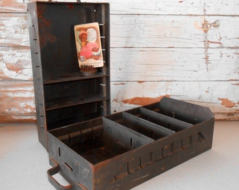 Vintage Industial Metal Drawers, Metal Bins