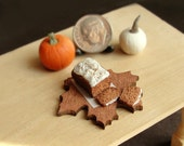 Dollhouse Miniature Food Pumpkin Bread