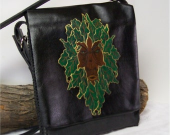 Greenman Handcrafted Leather Messenger, Tote, Tablet Bag, Cross Body Book Bag