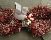 NEW! Red RetroTinsel Garland - Vintage Style Christmas Tinsel Trim - DIY Holiday Ornament Supplies