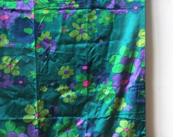 Awesome 1960s Silk Flower Curtains Panels (Set of 2)