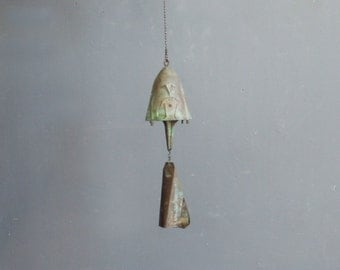 Signed Paolo Soleri Sculptural Modernist Bronze Bell Windchime