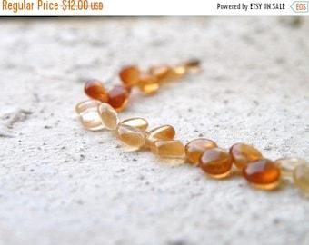 49% Off Sale Hessonite Garnet Gemstone Briolette AAA Rust Orange Smooth Heart 4.5mm 1/2 Strand 30 beads