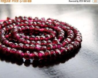 49% Off Sale Garnet Gemstone Faceted Rondelle 3mm 1/2 Strand 75 beads