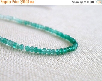 49% Off Sale Onyx Gemstone Rondelle AAA Emerald Green Onyx Shaded Faceted Israeli Cut 2.5mm FULL Strand 180 beads