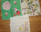 Child's Nursery Rhyme Handkerchiefs