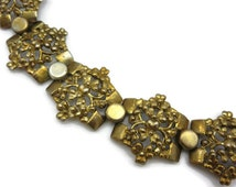 1930s Necklace  - Pot Metal, Floral, Vintage Costume Jewelry