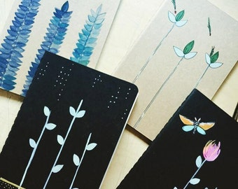Night Sprouts - Handpainted Moleskine Mini Notebook