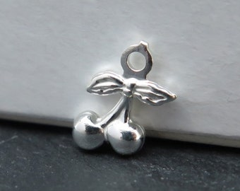 Sterling Silver Cherry Charm 10.5mm (CG8134)