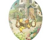 Germany Paper Mache Easter Egg Box Peter Rabbit Beatrix Potter  6 Inch  #931 M