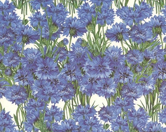 Made In Italy Authentic Florentine Paper Blue Cornflowrs Tassotti  T630
