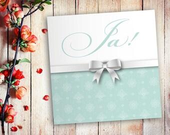 Invitation cards wedding loop Mint