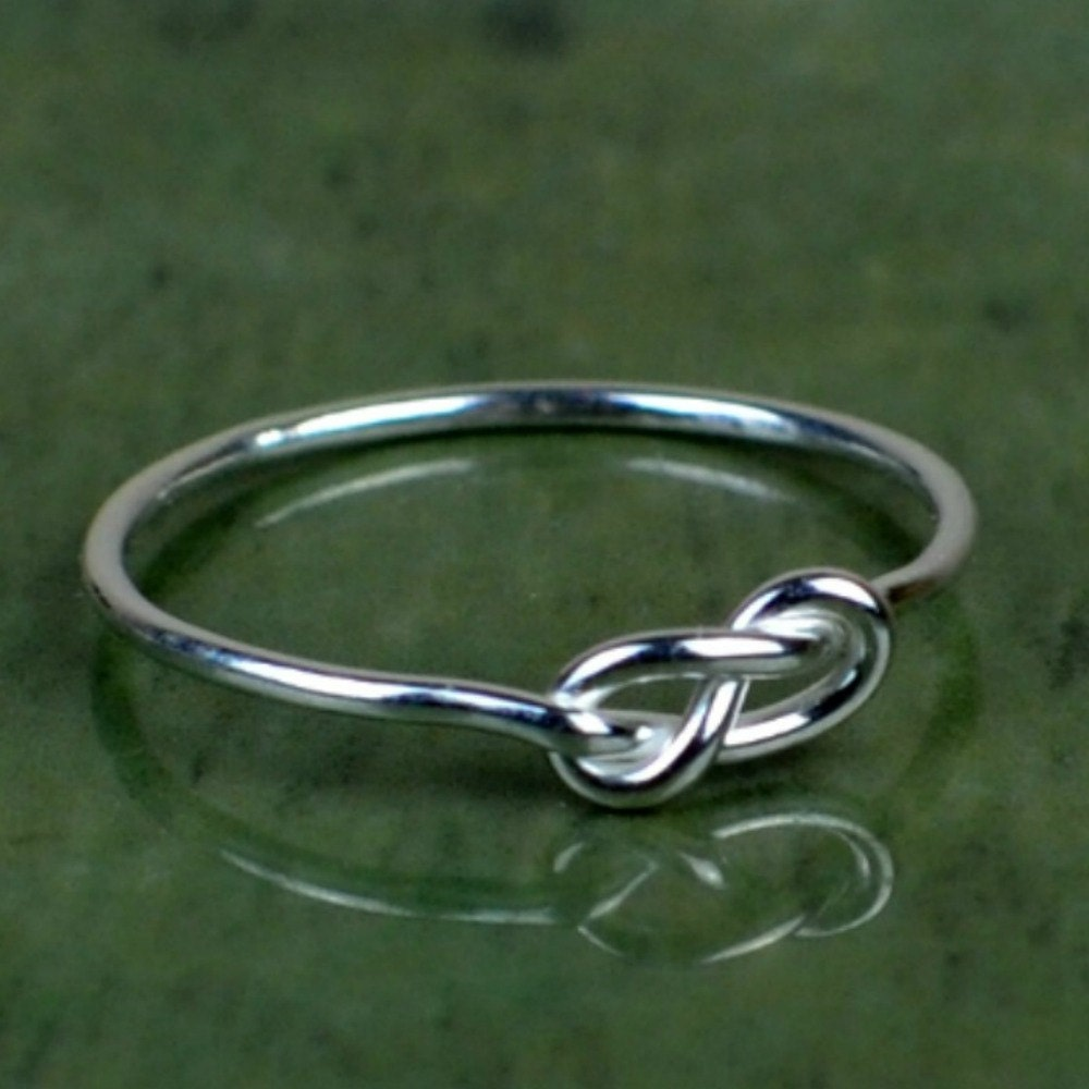 sterling silver infinity knot ring knot ring thin